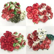 4 Packs of Christmas Paper Flowers Kit Ornament making Scrapbook (X'Mas Set A1)