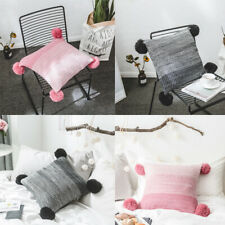 1pc Square Knitted Waist Cushion Cover ThrowPillow Covers Pillowcase Sofa Couch