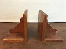 Wood Bookends Vintage Handmade Chicago Field 1945 Verdun HD11