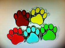 Dog Cat Paw Print European Beads, Large Hole Beads Fit Charm Bracelet