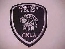 CHELSEA OKLAHOMA POLICE PATCH SHOULDER SIZE