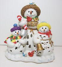 Partylite Porcelain Snowbell Snowman Tealight Holder P 7702