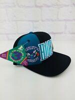 RARE Vintage 90s Charlotte HORNETS Black Starter NBA Snapback Hat Cap 1990s NWT