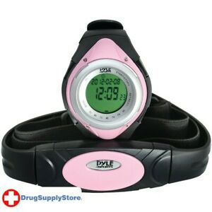 PE Heart Rate Monitor Watch with Minimum, Average & Maximum Heart Rate (Pink)