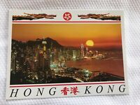 New The Central District Of Hong Kong Sunset Buildings Postcards Ephemera
