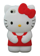 For IPhone 5 5S 5C 3D Hello Kitty Soft Silicone Case Cover - Red
