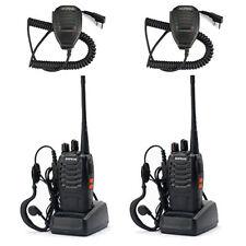 2X Baofeng BF-888S UHF 400-470 MHz Walkie Talkie Radio + Earpiece +Speaker Mic Y