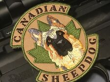 Canada Tactical Morale Patch- The Sheepdog - Hook & Loop - Multicam Army/ Police