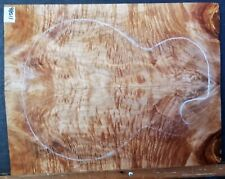 Flame Curly Maple Wood 11086 Luthier CARVED Top Guitar Set 20.5 x 16  x .75