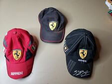 Ferrari Vintage Grand Prix Cap Hat Formula 1 F1 LOT OF 3 ADJUSTABLE