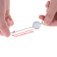 1pc Resilience Steel Wire Rope Retractable Alarm Key Ring Elastic Keych xi