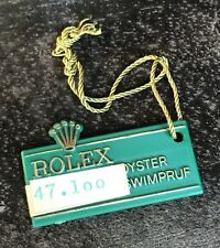 Rolex swimpruf VERDE TAG CARTELLINO ANNI 1970 Submariner GMT EXPLORER Sea Dweller OEM
