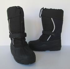 L.L. Bean Boys Childrens Black & Navy Northwoods Waterproof Winter Snow Boots 6
