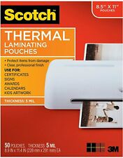 Scotch 5mil. Laminating Pouches 8.5x11 10 sheets (pieces) included