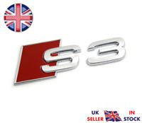 Audi S3 Chrome Boot Badge Logo Emblem Rear Tailgate Fits A3 TFSI TDI UK STOCK