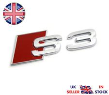 Audi S3 Chrome Boot Badge Logo Emblem Rear Tailgate Fits A3 TFSI TDI UK STOCK