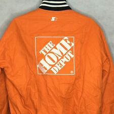 Tony Stewart Jacket Sz M Starter Joe Gibbs Racing NASCAR Home Depot Orange Snap