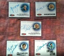 Rittenhouse JAMES BOND Set of FIVE signed Autograph Cards 40th Anniversary 2002