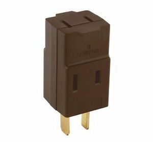 (2) Leviton 531 Triple Outlet Cube Adapter 15A-125V - Brown