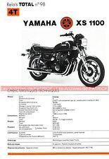 YAMAHA XS 1100 XS1100 Fiche Technique Moto 000298