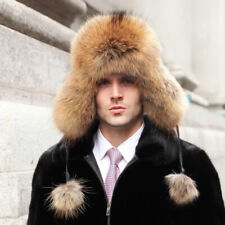 Finn Raccoon Fur and Waterproof Fabric Russian Fur Hat