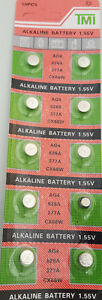 10x AG 4 Uhrenbatterie 377 626 für Armbanduhr Knopfzelle CX 626 V377 LR 626