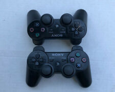 2 Sony PlayStation 3 PS3 Dualshock 3 Wireless Controllers Lot Black Genuine OEM