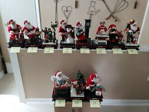 1993,HOLIDAY CREATIONS HOLIDAY SCENE MUSICAL LIGHTS UP FIGURES ALL WORK CHOOSE 1