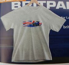 Land Rover Defender T-Shirt Union Jack Flag in Grey -Large