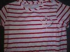 Vineyard Vines Nautical Red&White Stripe Anchor Fun T Shirt  Sz Medium  Cute!!!!