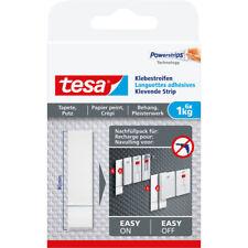 tesa Klebestreifen, 6 Stück, für Tapeten und Putz, bis zu 1kg pro Streifen, wei�Ÿ