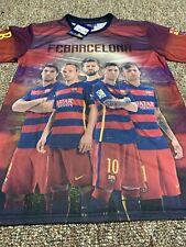 FC Barcelona Mens Medium Soccer Jersey Shirt Messi Suarez Neymar NWT