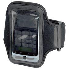 More details for adjustable sport gym running armband strap iphone case holder mobile cover black