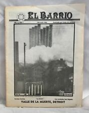 El Barrio Detroit Latino Activist Newsletter Feb-March 1983 in Spanish & English