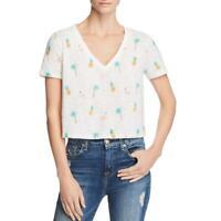 Honey Punch Womens Ribbed Striped Tee T-Shirt Top BHFO 5801