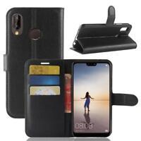 Huawei P20 Lite Custodia a Portafoglio Protettiva Cover wallet Case Nero