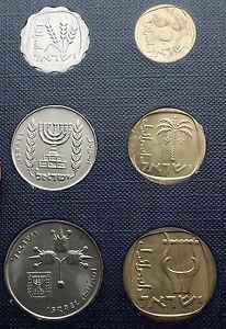 1971 ISRAEL - Jerusalem Specimen 6 Coins Set Collection in Present Case i56989