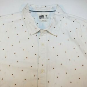 REEF SURF SURFING SURFER SKATE BUTTON DOWN SHIRT Sz Mens L