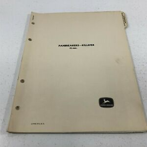 Genuine John Deere Panbreakers Killefer Parts Catalog PC-265 Dealer 1952