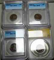 1915-S 1923-S 1926-D 1926-S Lincoln Cent Lot XF ANACS ICG Slabbed Graded -- #814