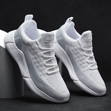 Mens Sneakers Lace Up Running Breathable Mesh Knit Casual Light Shoes Footwear