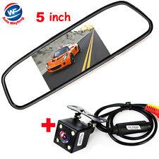 Rétroviseur avec Ecran TFT LCD 5 pouces + Caméra de recul pour Voiture HD CCD
