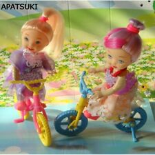 Bicycle and kelly Mini Doll Accessories for 1/6 Doll House Toys For 1/12 Doll