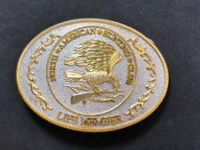 Vintage North American Hunting Club Belt Buckle Life Member Gold & Silver Tone