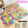 Two-sided Baby Kids Play Mat Floor Activity Gym Soft Toy Crawl Creeping Blanket