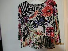 Gaudy Couture Brightly Colored 3/4 Sleeve Top - XL