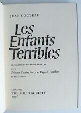 LES ENFANTS TERRIBLES Folio Society 1976 Jean Cocteau VGC NO BOX illust VGC