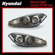 New Genuine OEM Head Light Lamp LH RH Set  for Hyundai Tiburon Coupe 2007-2008
