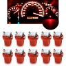 10x T5 B8.5d Car Gauge 5050 1SMD 12V Red LED Dashboard Dash Side Light Bulb