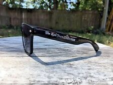 New Retro Shiny Black Wayfarer Sunglasses Dark Shades Vintage 80's Sunglasses
